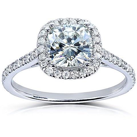 Forever brillant Sterling serties diamant et en or 9carats 11/3carat (ctw) en or blanc 14K