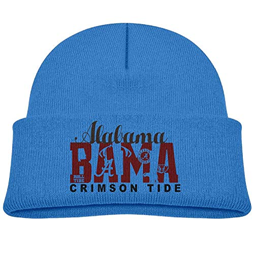 Alabama Crimson Tide Bama Kids Beanie Skull Hat Knitted Cap Ash - Crimson Knit Beanie
