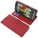 Tasche für Doro Liberto 825 Book Style rot Schutz Hülle