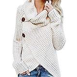Beikoard Damen Solide Kapuzenpullover Hoodies Pullover Mantel Hoody Sweatshirt Sport Hoodies Lang Sweatshirt (Weiß-2, XX-Large)