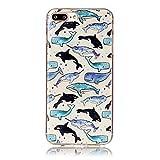 SecondDromi Viele süße Killerwale und Narwalmuster Soft (TPU) hülle für iPhone 5S,für iPhone SE,Mehrfarbig
