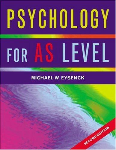 Eysenck: Psychology for AS Level
