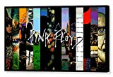 MAUSI CREATIONS - Pink Floyd LP Quadro - Stampa su Tela, Stretched Canvas Print, Druck Auf KEILLENWAND, Riproduzione dal Dipinto