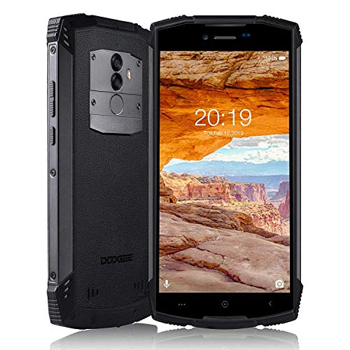"DOOGEE S55 Outdoor Handy Ohne Vertrag, Robustes Smartphone IP68 4G LTE Dual SIM, 5500 mAh Akku Wasserdicht Stoßfest Staubdicht, 5"" Display Android 8.0, Octa-core 4GB+64GB Kamera 5MP+13MP/8MP -Schwarz"