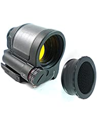 Mira telescópica para airsoft, solar, colocación rápida, color negro