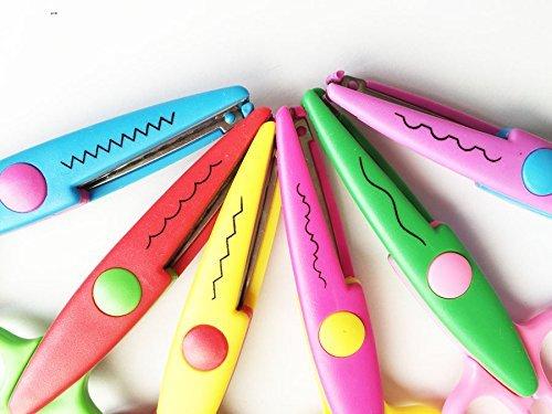 nalmatoionme 6pcs cancelleria Forbici Decorative onda pizzo bordo Forbici - Scrapbook Forbici