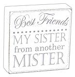 décoratifs Best Friends My Sister à partir d'un autre Mister Boîte en bois Sign