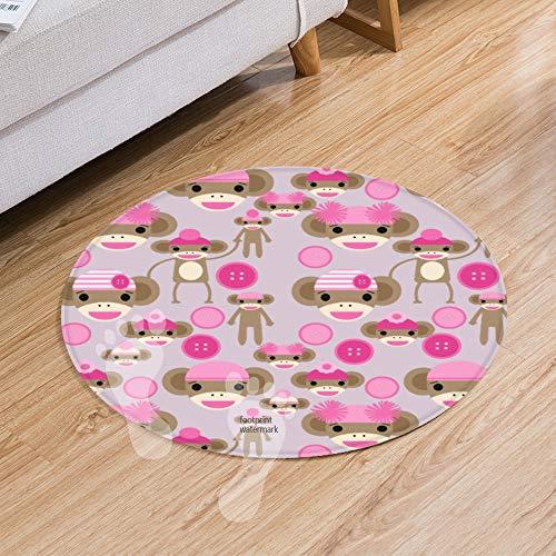 eppiche,K¨¹chenmatte rutschfest Badteppich, hochwertige Qualit?t, sehr weich, schnelltrocknend, waschbar (50 cm) Cute Girly pink Sock Monkey Girl Pattern ()
