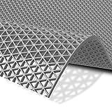 Hygienematte Z-Mat   viele Größen   stark rutschhemmend   für Nassbereiche und Arbeitsplätze   Grau - 120x200 cm