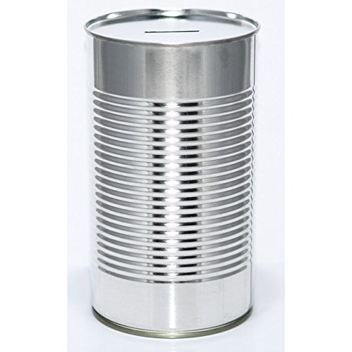 Metal-Savings-Tin-LRG-Blank-Tin-Holds-1000-when-Full-Open-with-Tin-Opener-Ideal-Promotional-Product