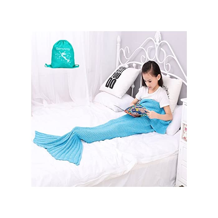 Meerjungfrau Decke - SENYANG meerjungfrau decke für kinder, alle Jahreszeiten Schlafsack für Kinder, Meerjungfrau-Schwanz-Decke für Mädchen Geschenke, Geburtstags Geschenke, Weihnachtsgeschenke