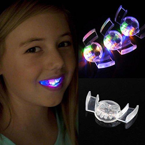 VWH Blinkende LED leuchten Mundstück Zähne Licht-Partei-Halloween-Schutz-Party-Partei-Geschenk (Halloween Zähne)