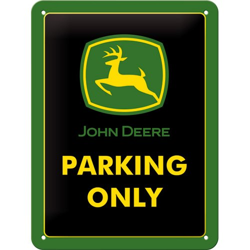 nostalgic-art-26182-cartel-de-chapa-john-deere-parking-only-15-x-20-cm