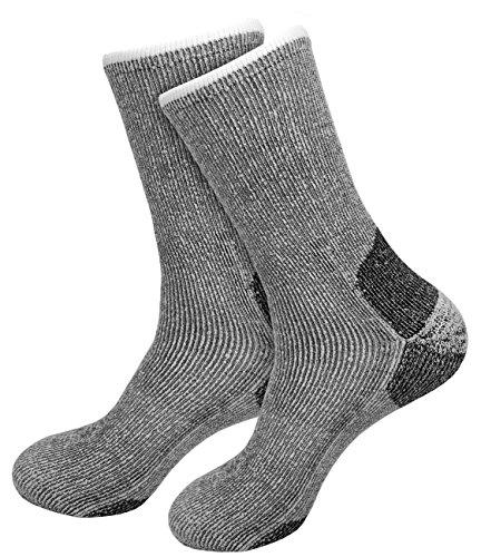 etrado fashion 2 Paar - Extrem robuste und wärmende Vollplüschsocken mit Alpakawolle und CORDURA® (43-46)