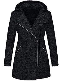 2346db3c637088 BaZhaHei Giacca Donna,Moda Casuale Giacca con Cappuccio Overcoat,Cappotto  Donna Invernale Elegante Tumblr