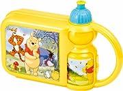 Bellissimo Set Box Portamerenda + Borraccia con Presa ergonomica Winnie the Pooh. Da Portare sempre con se grazie al comodo manico, all'asilo,in gita con gli amici e la famiglia. Lavabile in lavastoviglie. I prodotti di altissima qualita' sod...