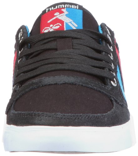 Hummel Slimmer Stadil Low Canvas, Unisex - Erwachsene Sneaker Schwarz/JET BLACK/BRILLIANT BLUE/RIBBON RED