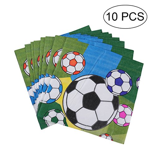 BESTOYARD 100Fußball Party Supplies Sport Motto Servietten Kleines Tuch Servietten für Den Täglichen Gedecke Kinder, Party
