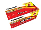 Panasonic LR14PPG/8BB Pro Power Alkaline Batterie, C - Baby - LR14, 8er Pack gold