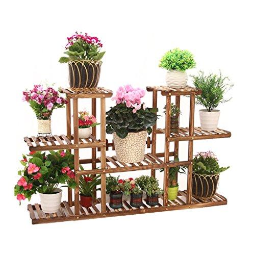 Scaffale per fiori piante multi livello scaffale scaffale per vasi da giardino in legno - Vasi per piante da interno ...