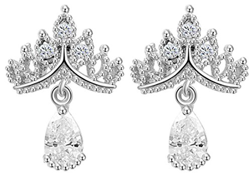 SaySure - Jewelry Imperial Crown Crystal Stud Earring Queen