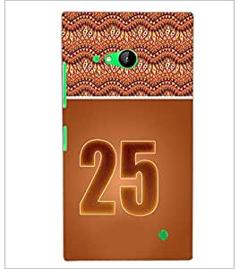 PrintDhaba Numerology Number 25 D-3660 Back Case Cover for NOKIA LUMIA 730 (Multi-Coloured)