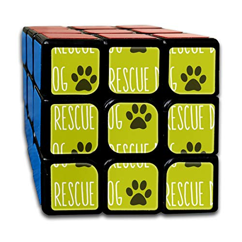 Rescue Dog Lime Big_752 3x3 Magic Speed Cube Smooth Speed Magic Rubik Cube Puzzles Toys Lime Tray Set