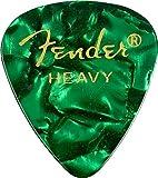 Fender 098-2351571351Shape Premium Picks Heavy Green Moto, 144Count