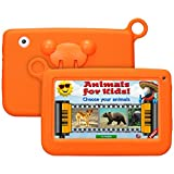Enfant TabletteTactile Kivors 7 pounce tablette PC 8G ROM Android 4.4 Quad Core 1.0GHz Tablet pour les enfants (Orange)
