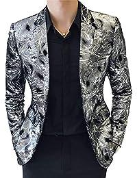 Adelina Uomo Slim Fit Silver Blazer Wedding Party Blazer Abbigliamento Wedding  Suit Suit Giacche Smoking Giacca… EUR 54 08321e5581a