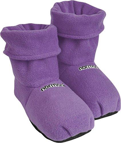normani® Körnerpantoffeln für die Mikrowelle mit Leinsamenfüllung - extra hoher Schaft Farbe Lila Größe M=36/40 (Damen Mikrowellen Pantoffeln)