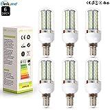 Elinkume 6X 8W E14 Sockel 120X3014 SMD LED Kaltes Weiß LED Lampe Leuchtmittel Mais plus Blende 750-800 Lumens 360 Abstrahlwinkel AC200-240V