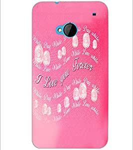 PrintDhaba Quote D-5524 Back Case Cover for HTC ONE M7 (Multi-Coloured)