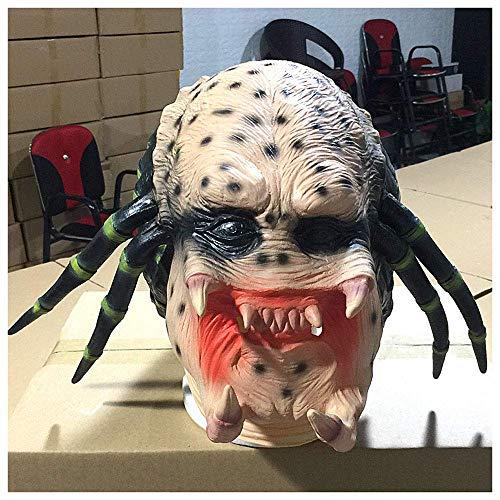 ror Maske Kopfbedeckungen Teufel Geist Gesicht Scary Latex Headwear Halloween Show Requisiten ()