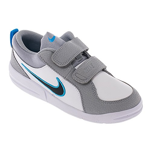 Nike pico 4 psv calzatura bambino, colore bianco/blu/grigio, taglia 34 eu