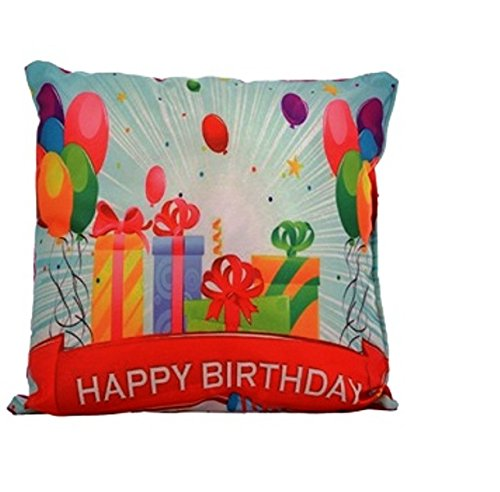 Richline Happy Birthday Pillow for Kids- Red & White
