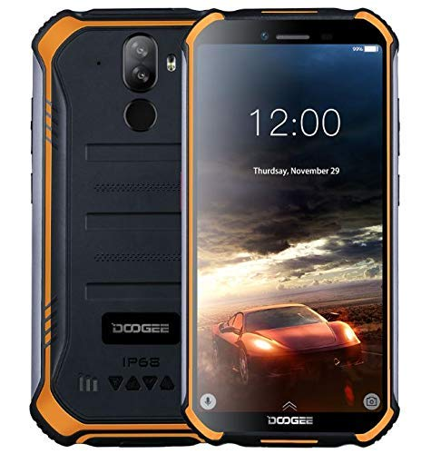 【2019】DOOGEE S40 4G Android 9.0 Sólido Móvil Libre Robusto - 5.5'' HD (Gorilla Glass 4) IP68/IP69K Militar Resistente IP68 Impermeable Smartphone, 4650mAh batería, 2GB+16GB,DUAL SIM,GPS,NFC - naranja