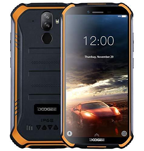 DOOGEE S40 - Télephone Portable incassable debloqué 4G Android 9,0 - 5,5 '' (Gorilla Glass 4) IP68 / IP69K extérieur étanche imperméable Smartphone Militaire,Double SIM, 4650mAh, 2GB+16GB,NFC Orange