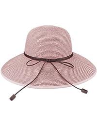 Floppy Hat Summer Beach Sun Straw Hats Anti-UV Protection Hat Travel  Packable UPF 50 6e0abf715c84