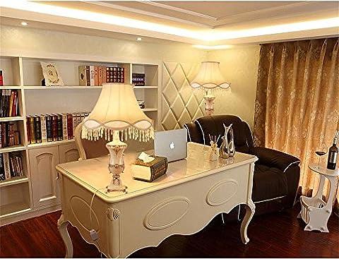 Kesierte Continental classique table de résine vie de la lampe chambre se lampe de bureau de la mode , Remote control switch