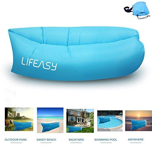 NEUE-VERSION-Thicker-Longer-Lifeasy-Outdoor-Wasserdicht-Aufblasbare-Air-Sofa-Couch-Portable-Kompression-Schlaf-Liege-fr-Camping-Strand-Park-Hinterhof-Blau
