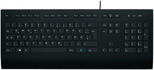 Logitech K280e Tastatur (Kabelgebunden, Business-Tastatur, QWERTZ, Deutsche Layout) schwarz