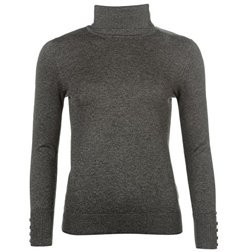 Full Circle Damen Rollkragen Pullover Grau UK 16 (XL) (Roll Pullover Trim)