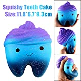 Decompression Toys, Squishy Toy, TUDUZ 12cm Galaxy Teeth Cake Scented Squishy Putty Slow Rising Squeeze Toys Jumbo Collection Fun Toy Gift for Kid Christmas Gift (AS Show)