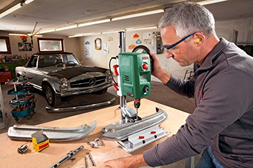 Bosch DIY Tischbohrmaschine PBD 40, Parallelanschlag, Schnellspannklemmen, Karton (710 W, 13 mm Bohr-Ø in Stahl, 40 mm Bohr-Ø in Holz) -