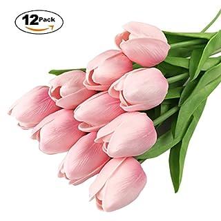 Ahatech Tulpe Hauptdekor künstliche Blume mini einzelne künstliche Blumenbrautblumenstrauß Simulation Blume Tulpe Kunstblumen 12 / Kampf