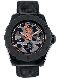 Reloj de pulsera para hombre de piel negro U.S. Polo Assn. Voyager usp4237or