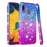 COTDINFOR Samsung Galaxy A30 Liquid Case Gradient Color