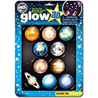 The Original Glowstars Company B8101 - Glow 3-D Stickers - Planets