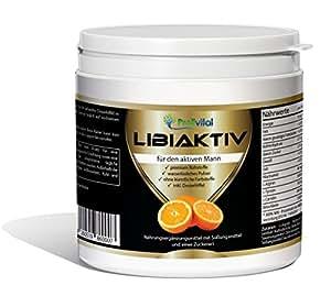 LibiAktiv - das Pulver für den aktiven Mann 1 Dose (1 x 300 g) mit L-Arginin, L-Tyrosin, L-Carnitin, Beta-Alain und Vitamin B3 - Potenz